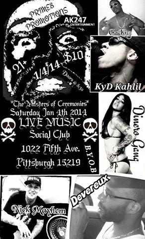 Social Club Show Flyer